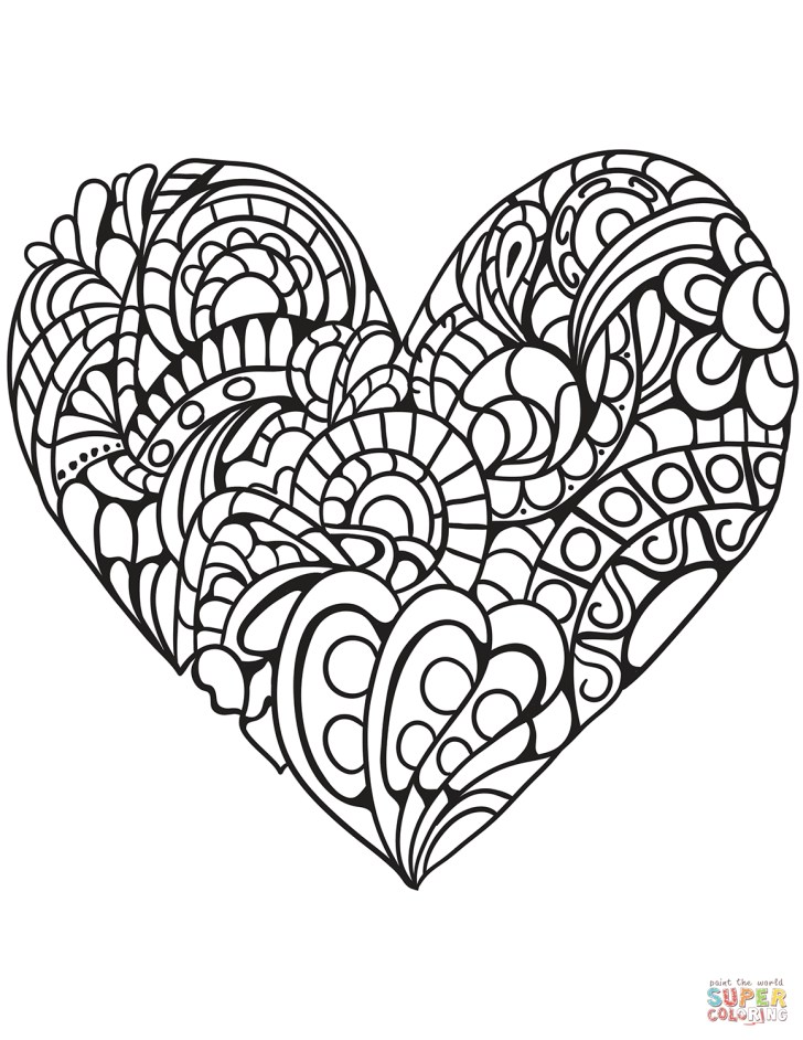 25+ Inspired Picture of Coloring Pages Of Hearts