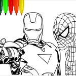 Coloring Pages Spiderman Spiderman Iron Man Marvel Coloring Pages Colouring Pages For Kids