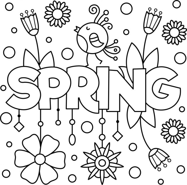 Coloring Pages Spring Coloring Pages Free Printable Spring Adult Coloring Pagesfree
