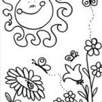 Coloring Pages Spring Free Springtime Coloring Pages Spring Timurtatarshaov Line Drawing
