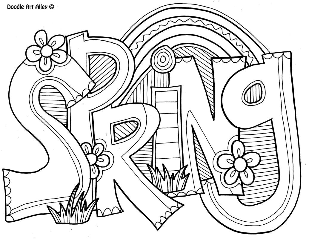 Coloring Pages Spring Spring Coloring Pages Doodle Art Alley