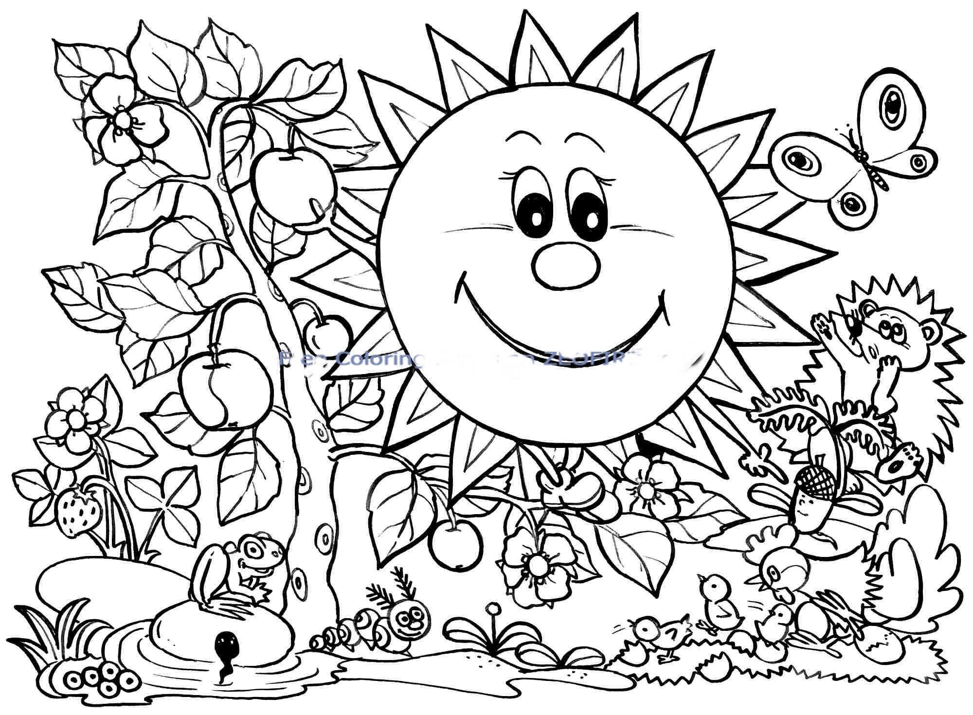 Coloring Pages Spring Spring Coloring Pages For Kids Coloring Page Hangenix Coloring