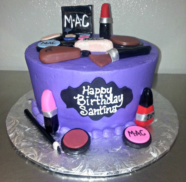 Custom Birthday Cake Custom Cake Makeup Cakes Scq