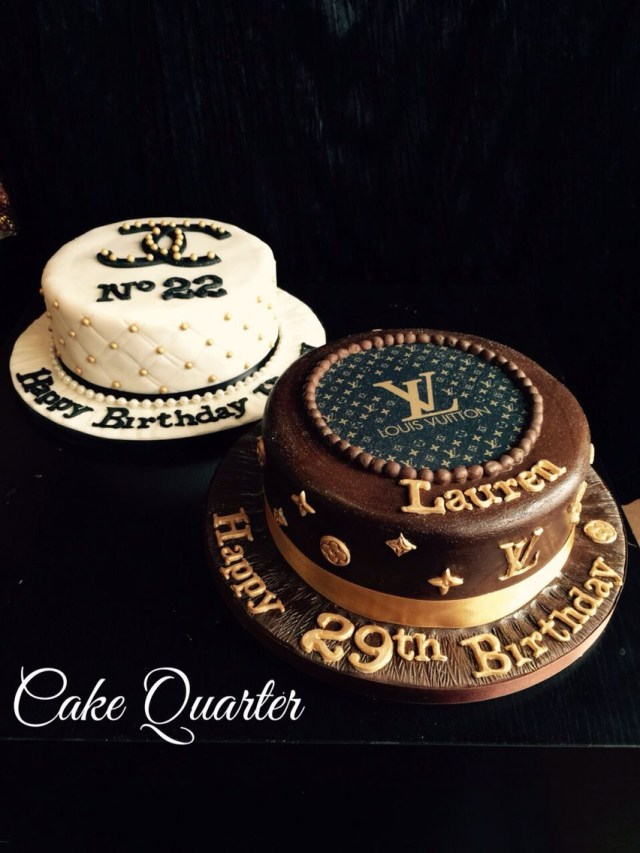 Custom Made Birthday Cakes Designer Birthday Cakes Chanel Birthday Cake And Louis Vuitton