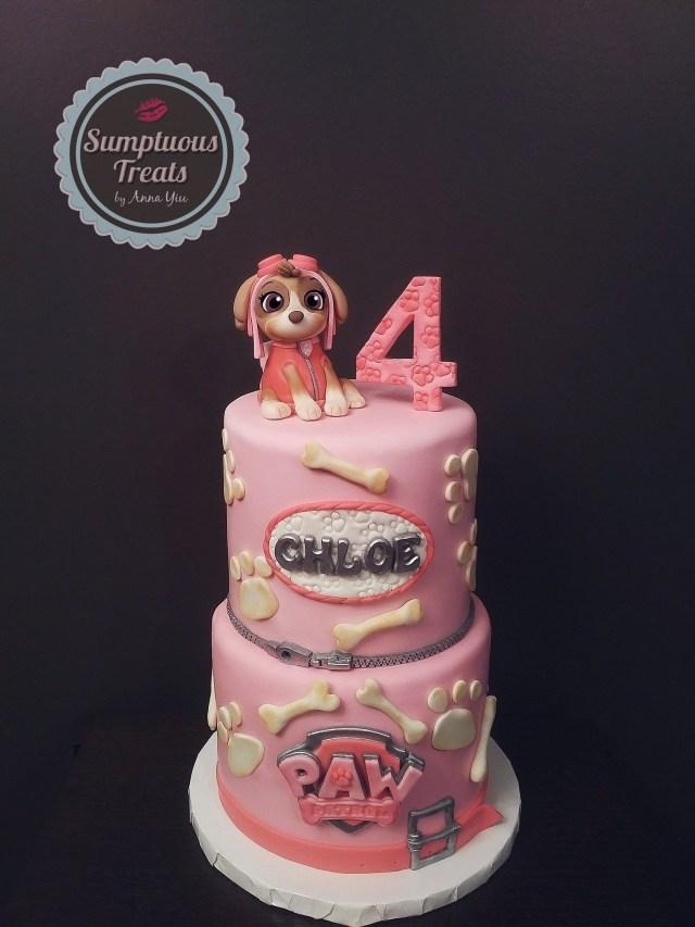 Custom Made Birthday Cakes Paw Patrol Skye Birthday Cake Custom Made To Order Cakes Cookies