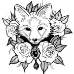 Cute Coloring Pages Coloring Page Cute Coloring Pages Fors Page Fox With Roses Foxes