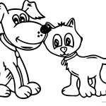 Cute Coloring Pages Dog And Cat Cute Coloring Pages Wecoloringpage