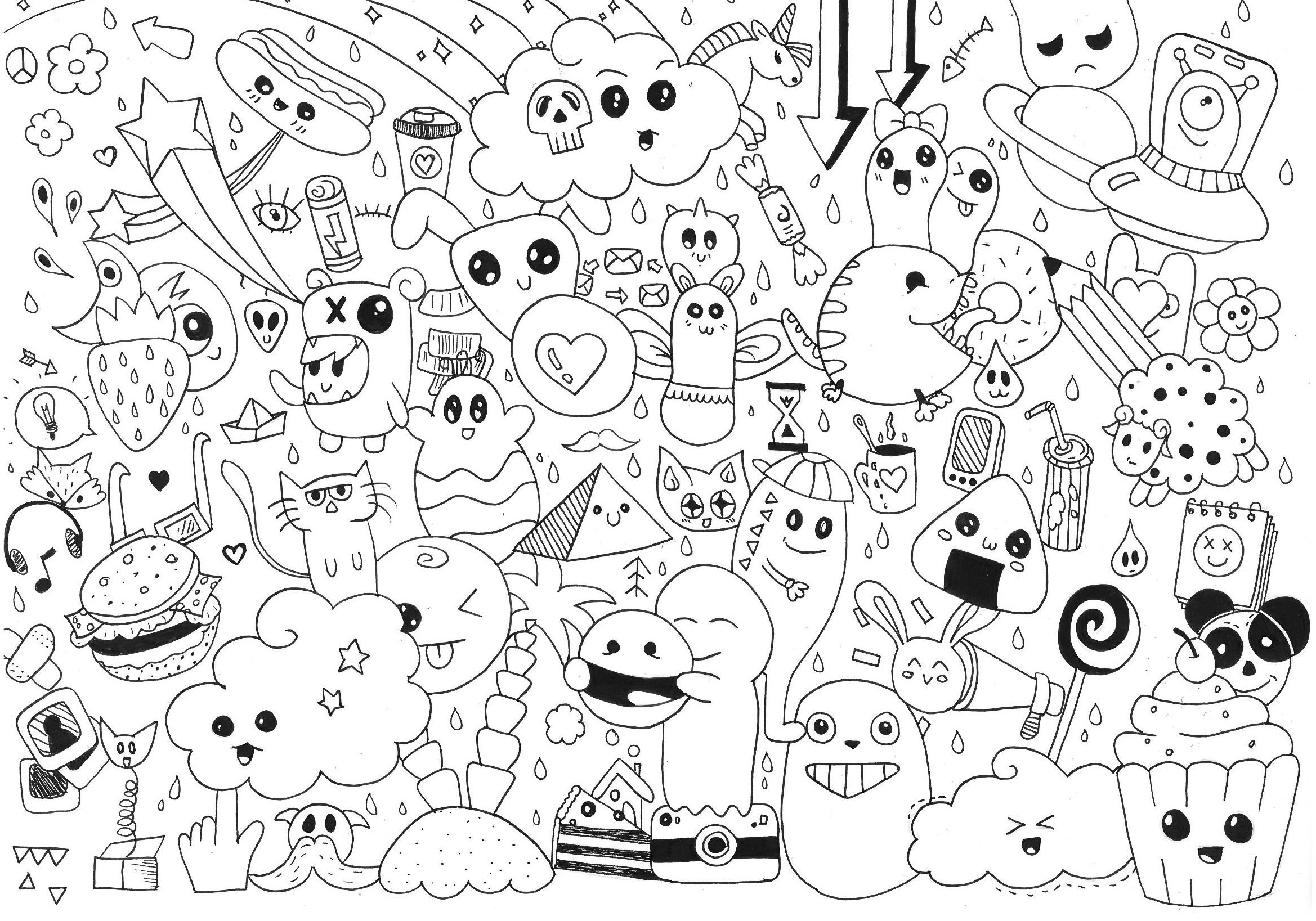 Cute Food Coloring Pages Kawaii Food Coloring Pages Only Coloring