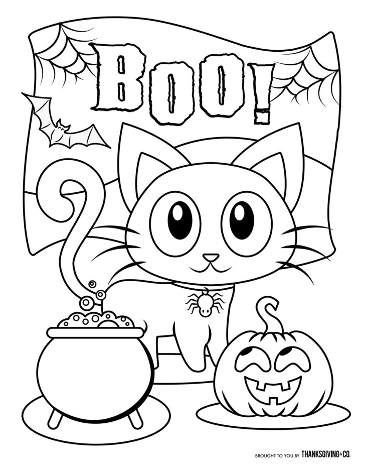 25+ Wonderful Picture of Cute Halloween Coloring Pages