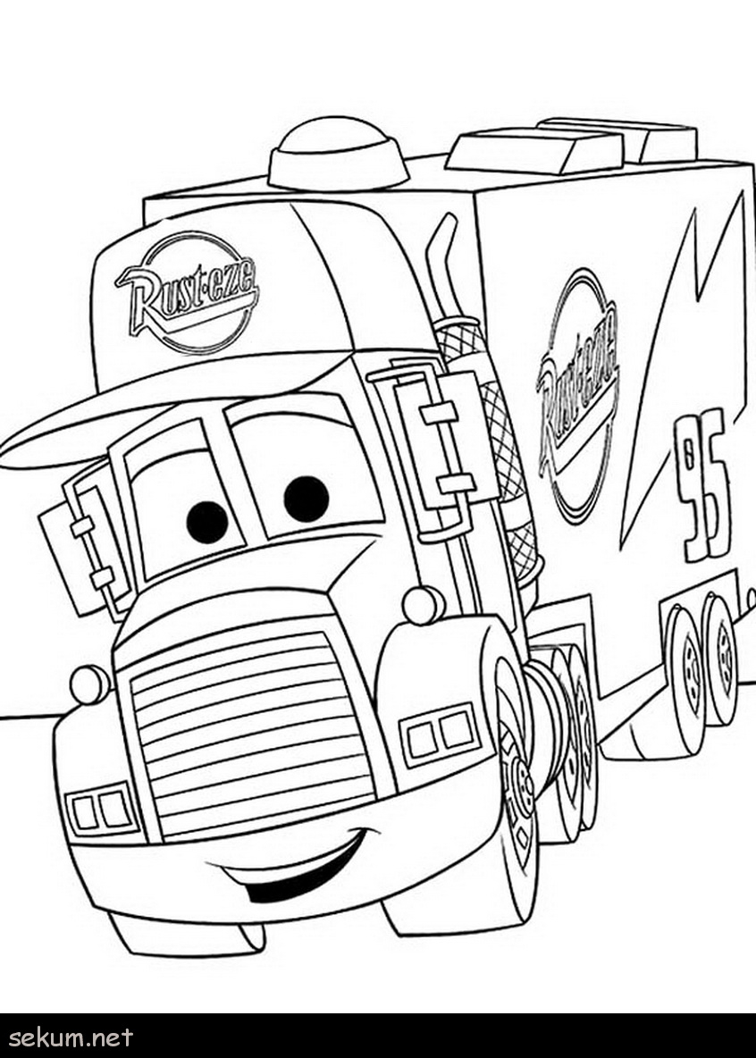 Disney Cars Coloring Pages Cars Coloring Pages Online Mack From Disney Cars Coloring Page