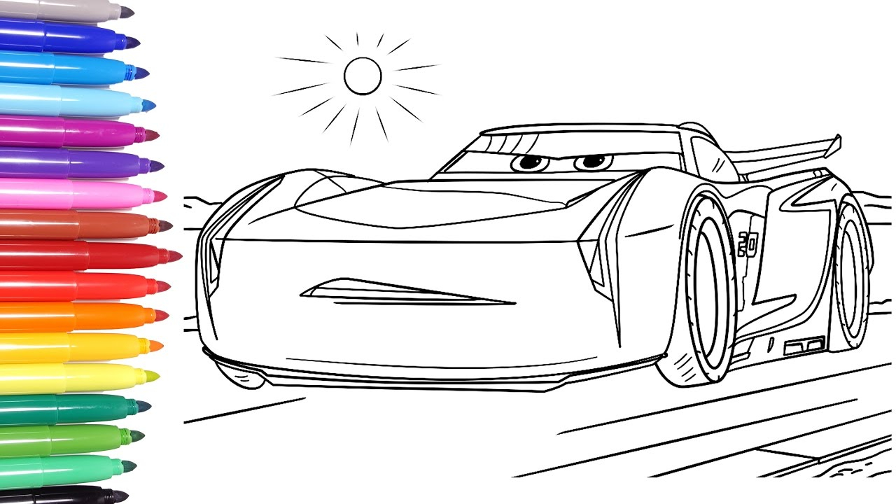 Disney Cars Coloring Pages Disney Cars 3 Disney Cars Coloring Pages Learn Colors For Kids 2