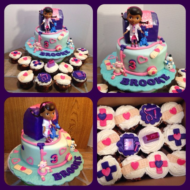 Doc Mcstuffin Birthday Cake 12 Doc Mcstuffins Cake And Cupcakes Photo Doc Mcstuffins Cupcake