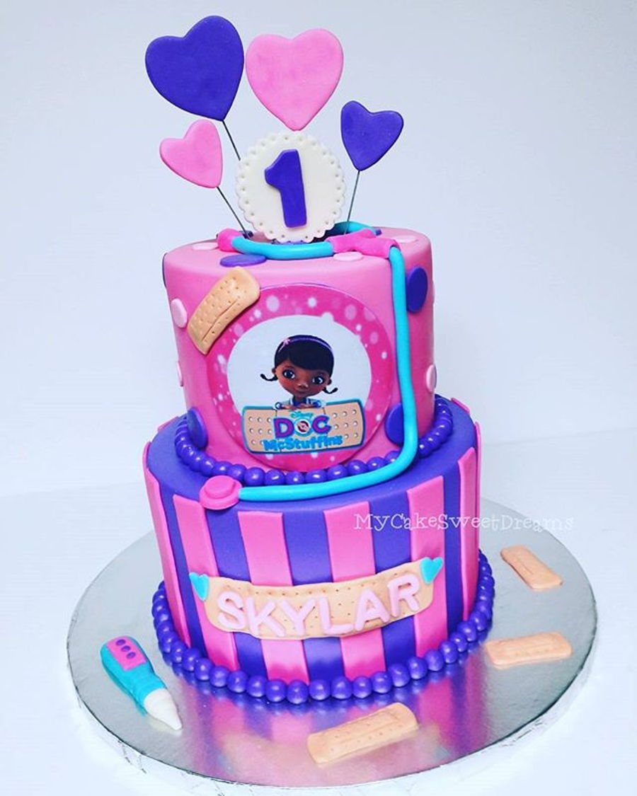 Doc Mcstuffin Birthday Cake Mcstuffins 1st Cakecentral
