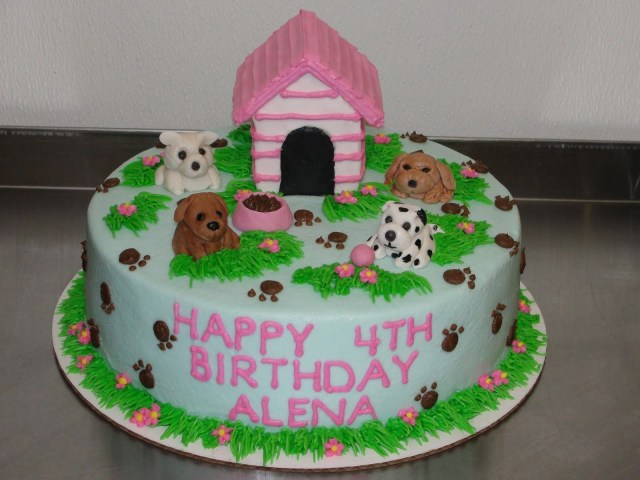 Dog Themed Birthday Cake Pin Susan Baskin On Birthday Cakes Pinterest Birthday Puppy