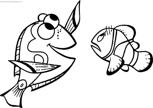 Dory Coloring Pages Disney Finding Nemomarlin Dory Coloring Pages Wecoloringpage