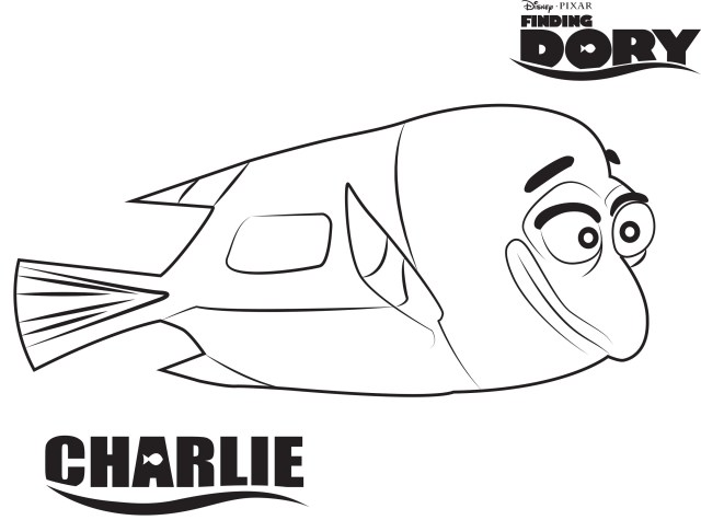 Dory Coloring Pages Finding Dory Coloring Pages Charlie K5 Worksheets