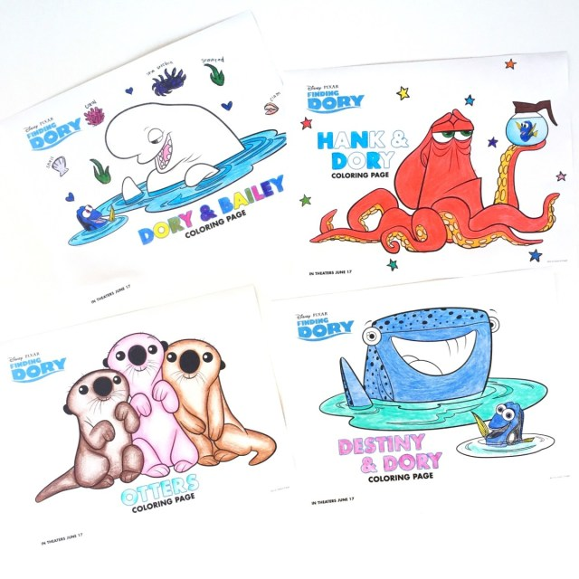 Dory Coloring Pages Finding Dory Coloring Pages Disney Family