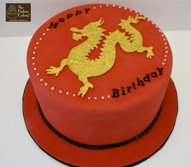Dragon Birthday Cake Chinese Golden Dragon Red Cake Birthday Cakes Pinterest Cake