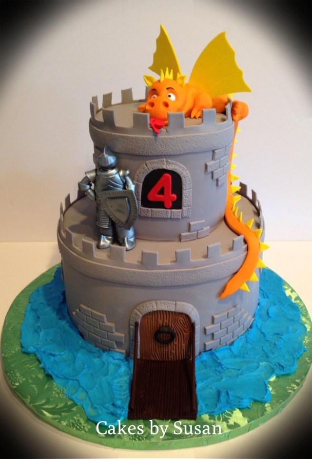 Dragon Birthday Cake Knight And Dragon Birthday Cake Skyrim Party Pinterest Castle