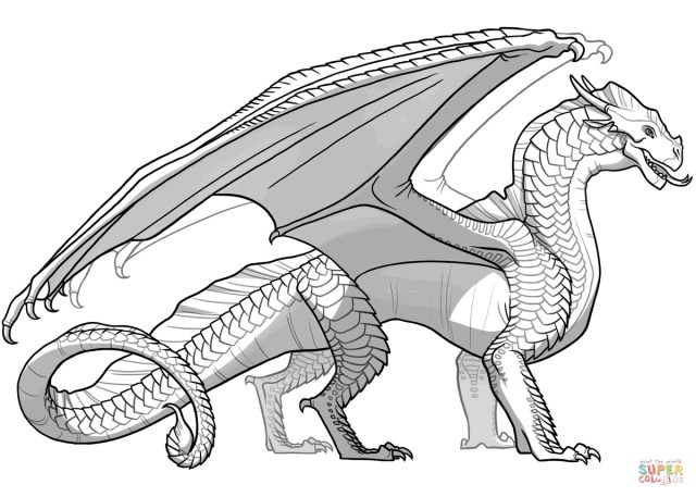 Dragon Coloring Pages Wings Of Fire Sandwing Dragon Coloring Page Free Printable