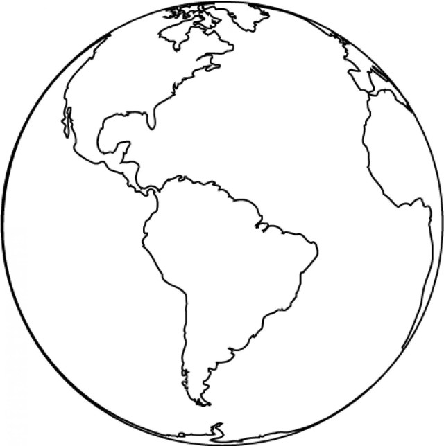 Earth Coloring Pages Printable Pictures Of Earth