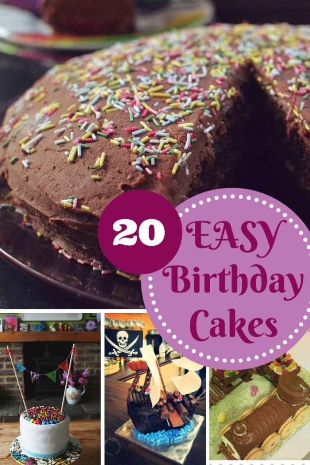 Easy Birthday Cake Ideas Easy Birthday Cake Recipes In The Playroom