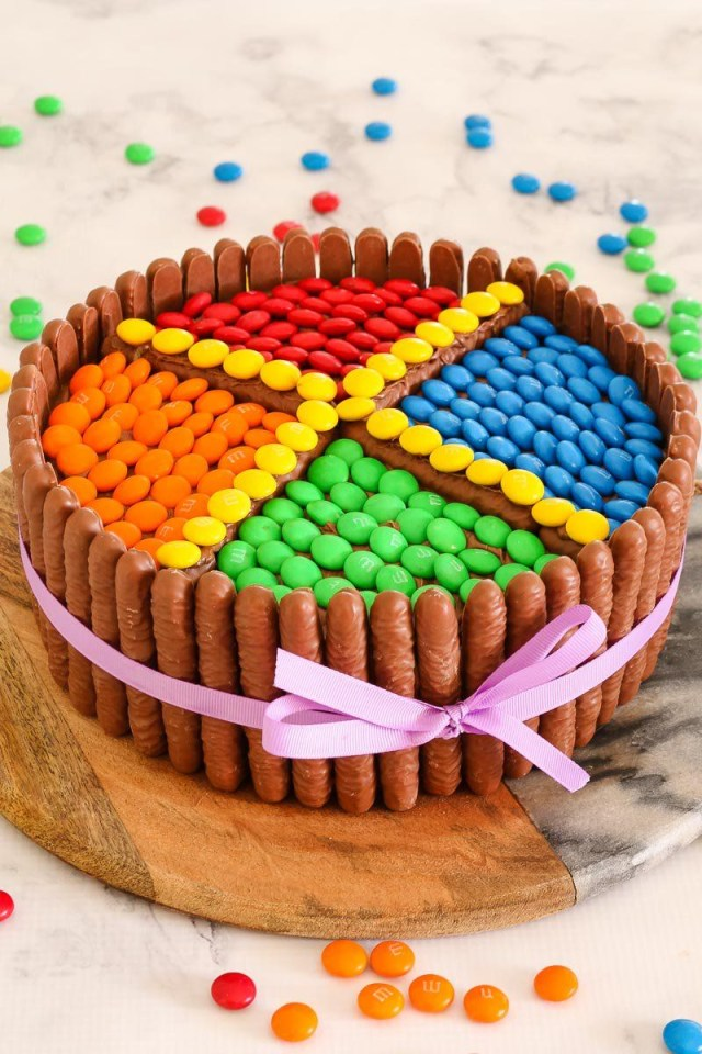 Easy Birthday Cake Recipe Super Easy Mms Chocolate Cake Recipe Cake Fun Pinterest