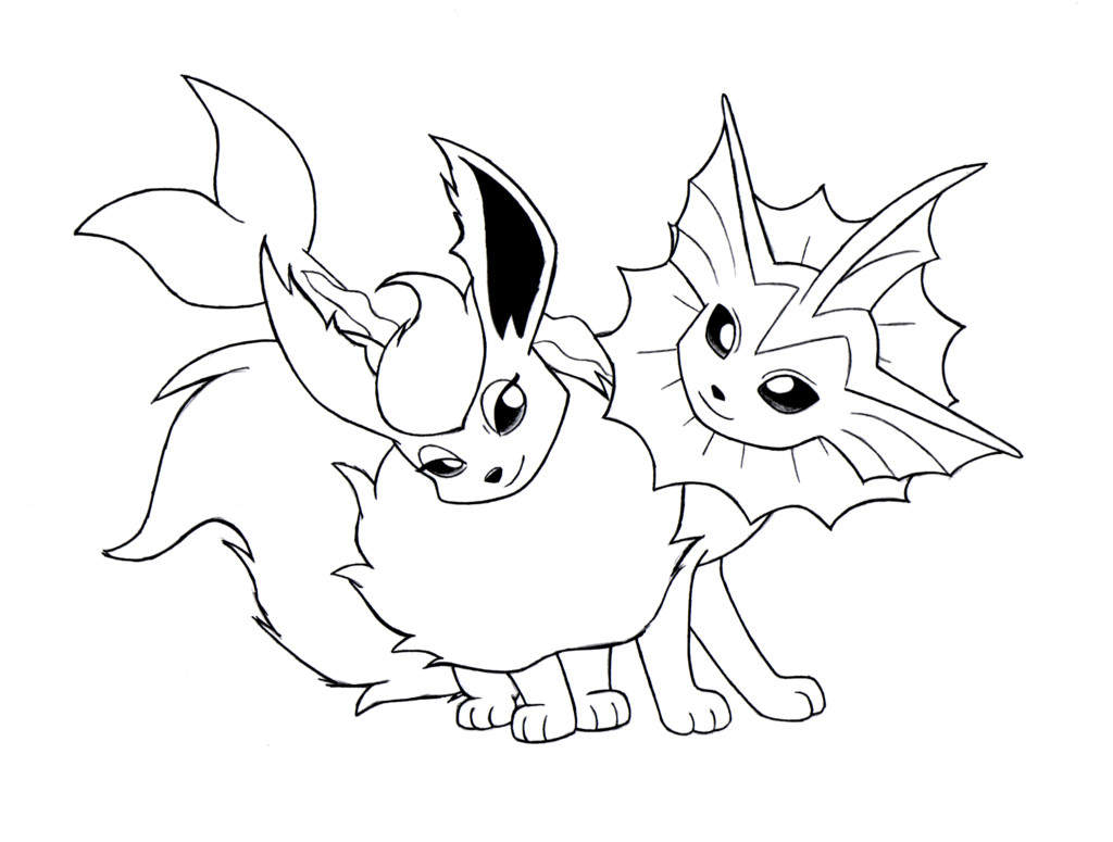 Eevee coloring pages eevee coloring pages printable characters pokemon evolutions