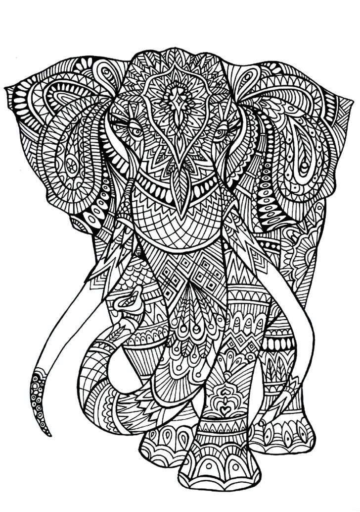 27+ Inspired Image of Elephant Adult Coloring Pages