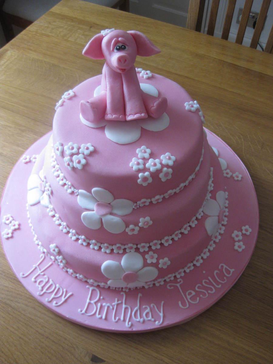 Elephant Birthday Cakes Pink Elephant Birthday Cake Cakecentral