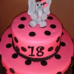 Elephant Birthday Cakes Polka Dot 18th Birthday Elephant Cake Cakecentral