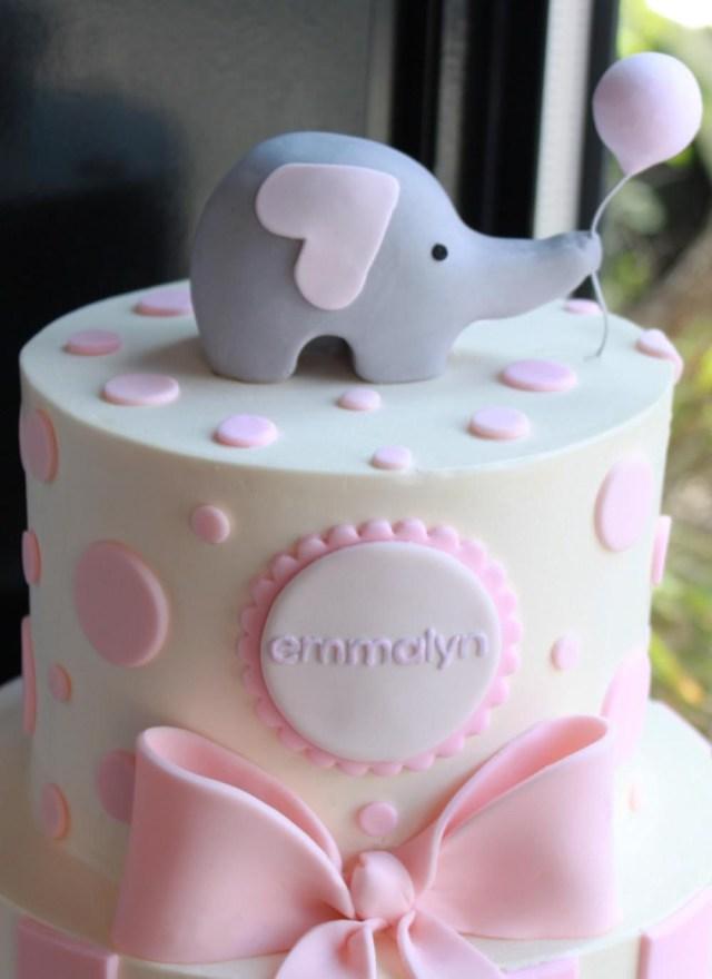 Elephant Birthday Cakes Sweet Elephant Party Cake Whipped Bakeshop Abigails Ba Shower