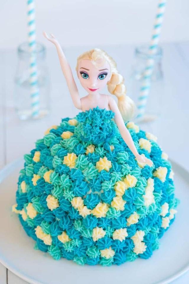 Elsa Birthday Cake Elsa Cake Easy Diy Birthday Cake Tutorial My Kids Lick The Bowl
