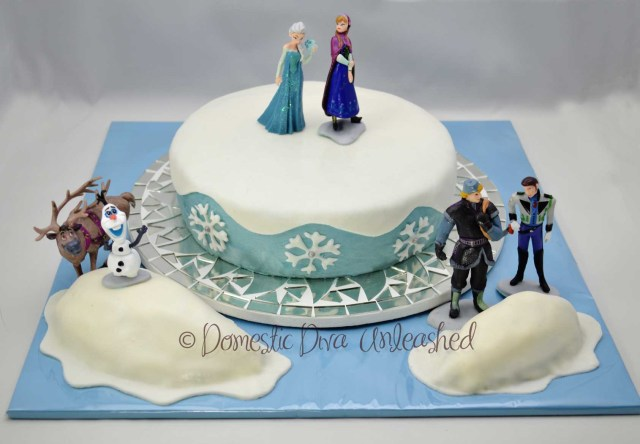 Elsa Birthday Cake Frozen Birthday Cake Domestic Diva Unleashed