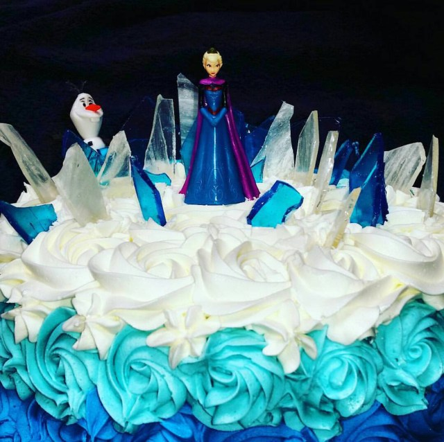Elsa Birthday Cake Frozen Birthday Cake Mad Batter Bakery