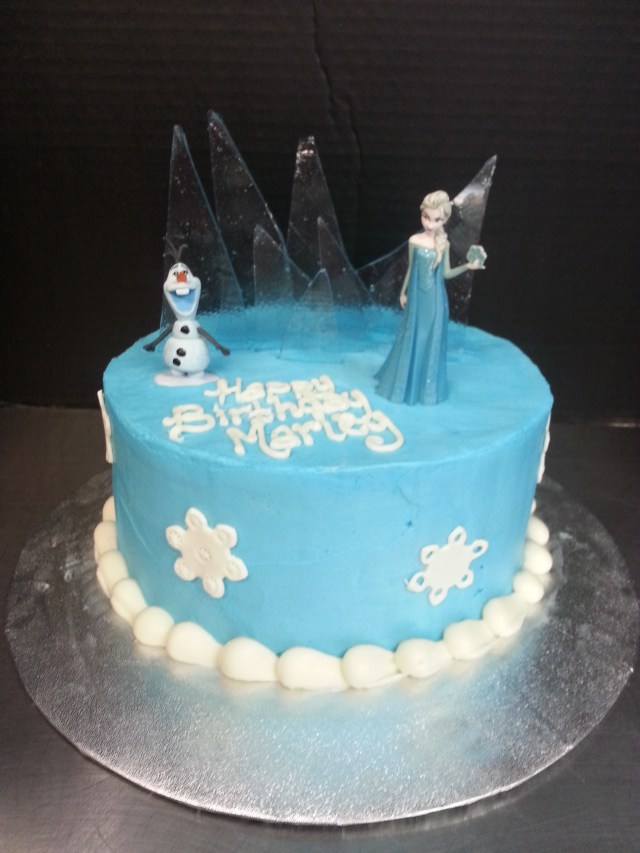 Elsa Birthday Cake One Tier Disneys Frozen Birthday Cake Scq
