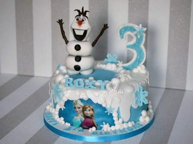 Elsa Birthday Cakes Disney Frozen Cake Olaf And Elsa Birthday Cake Bakealous