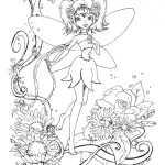 Fairy Coloring Page Coloring Page Fairy Coloring Pages For Adults Evil Page Elegant
