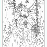 Fairy Coloring Page Fairy Coloring Page Tubidportal