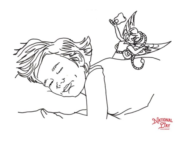 Fairy Coloring Page Tooth Fairy Coloring Page National Day Calendar