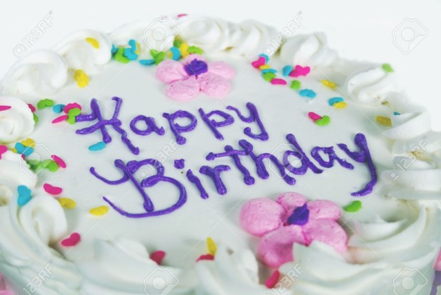 Fancy Birthday Cake Fancy Birthday Cake With Candy Sprinkles Stock Photo Picture And