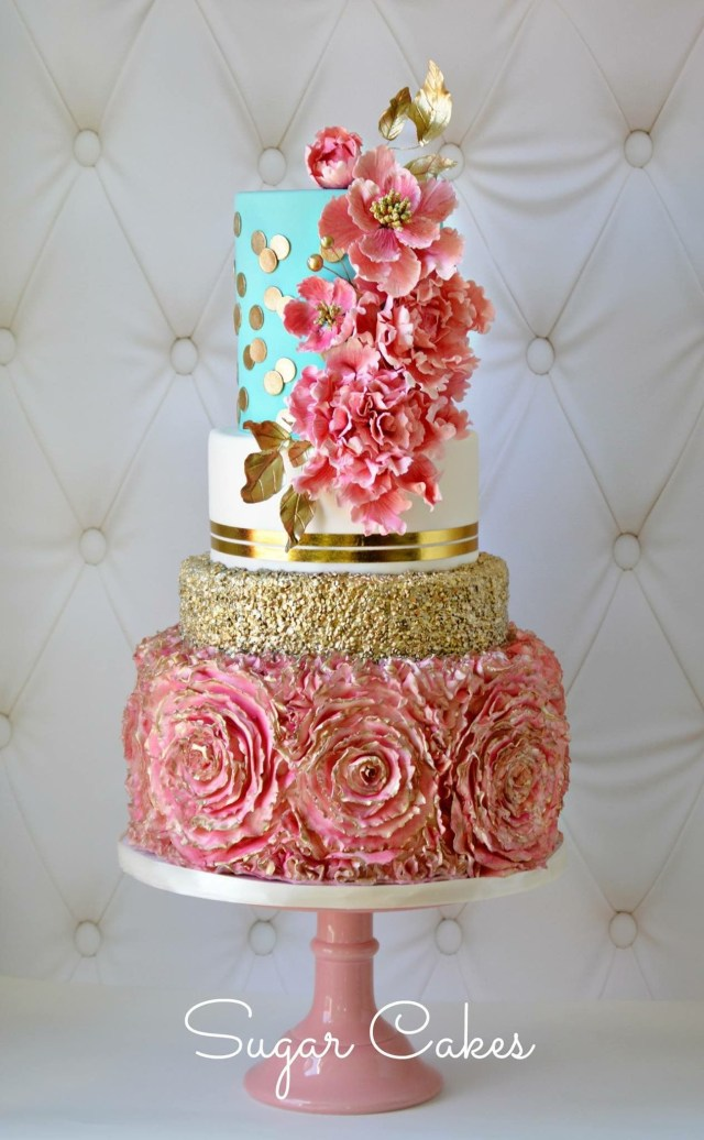 Fancy Birthday Cake Wedding Cake Ideas Pink And Turquoise Wedding Cakes Bridal