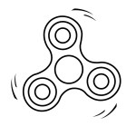 Fidget Spinner Coloring Page Fidget Spinner 2 Coloring Pages Hellokids