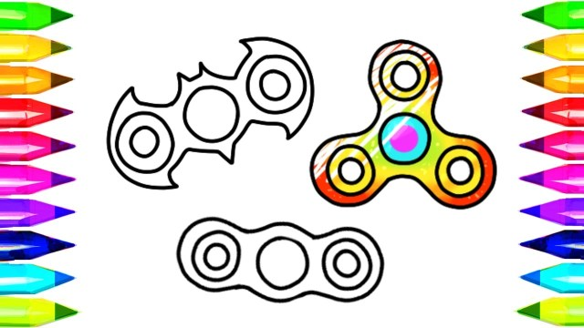Fidget Spinner Coloring Page Fidget Spinner Drawing And Coloring Pages And How To Make Easy