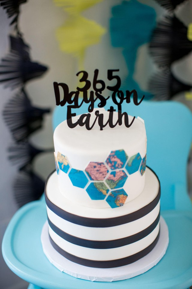 First Birthday Cake Topper 365 Days On Earthbirthday Cake Topper Personalized Birthday Topper