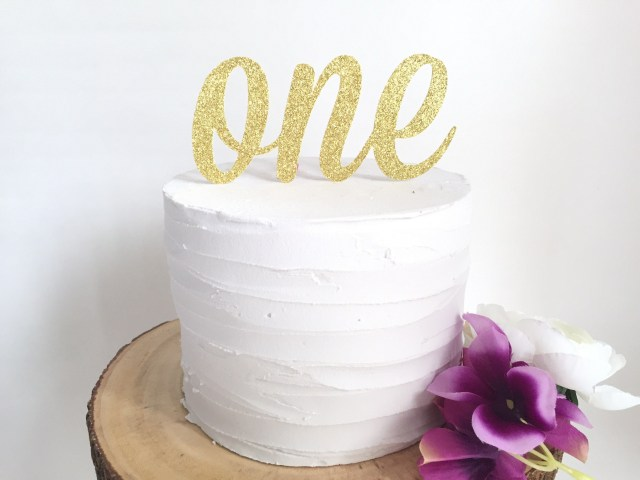First Birthday Cake Topper First Birthday Cake Topper Gold Or Silver Cake Toppers Make
