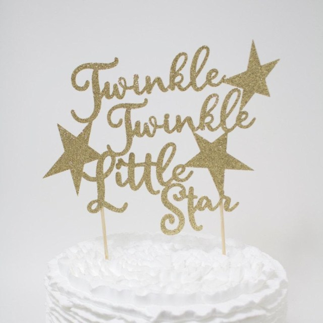 First Birthday Cake Topper Twinkle Twinkle Little Star Cake Topper Ba Shower First Birthday