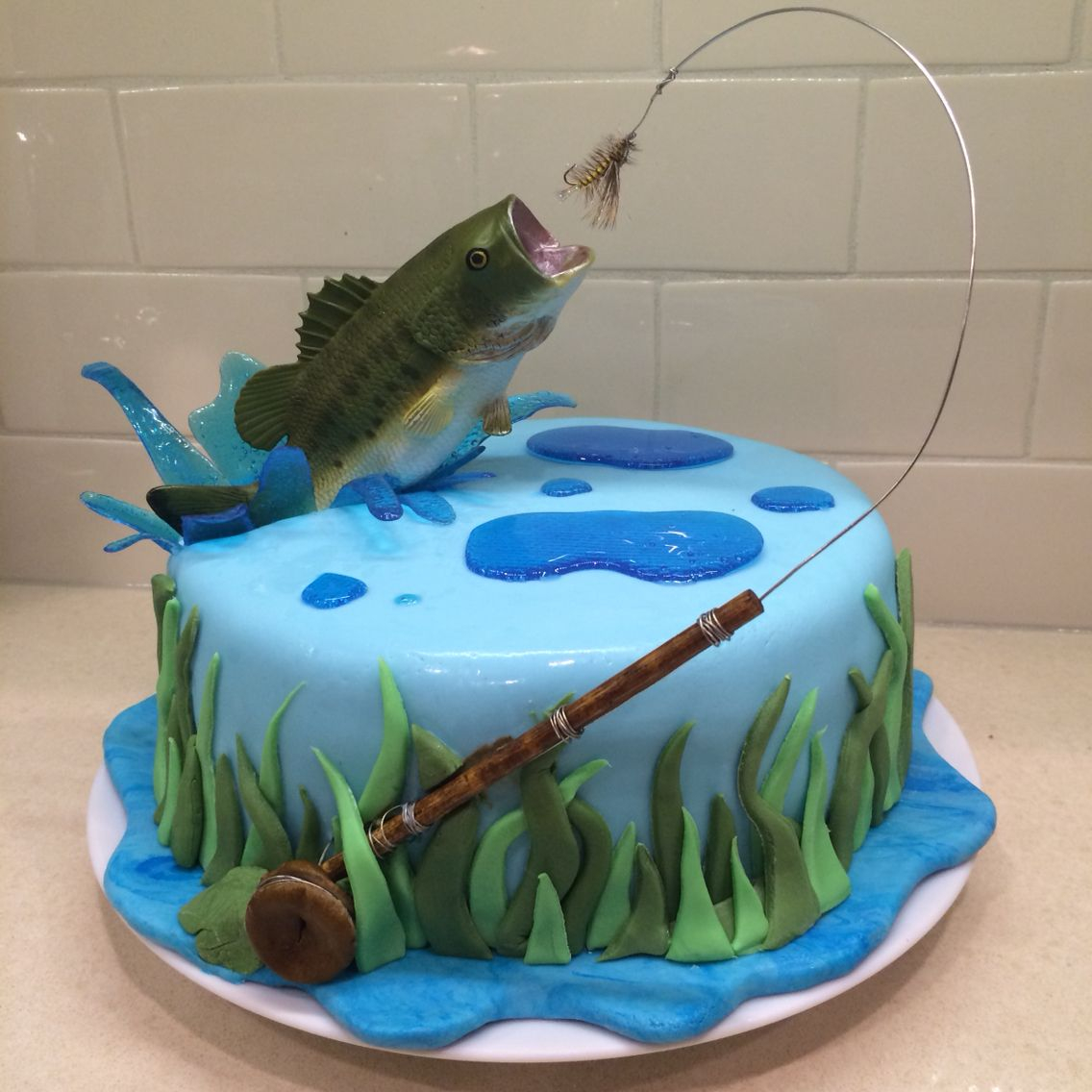 32+ Great Picture of Fishing Birthday Cakes