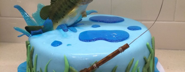 Fishing Birthday Cakes Fly Fishing Cake For My Hub Bass Jumping Out Of Water Bass