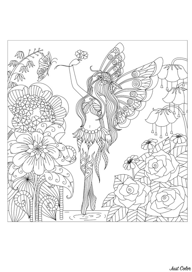 Flower Adult Coloring Pages Flowers Queen Flowers Adult Coloring Pages